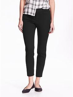 The Pixie Mid-Rise Ankle Pants | Old Navy - black, black plaid, black/white, chard knock life, potent purple
