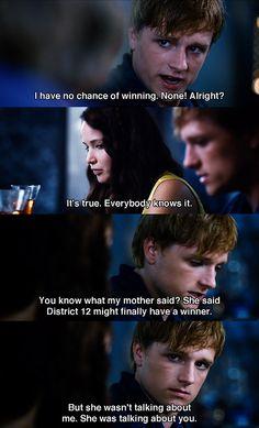 Peeta (Josh Hutcherson) needs a little more faith in himself -- The Hunger Games