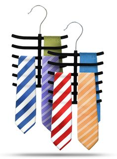 Velvet 6-Compartment Tie Hanger