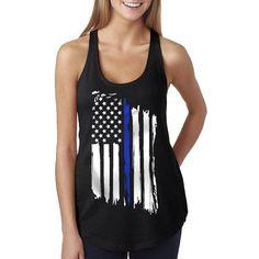 Women's Tank - Thin Blue Line Flag