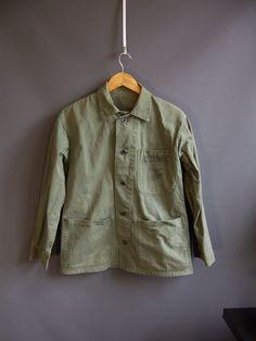 1940s USMC P47 work jacket workwear herringbone denim by edgertor