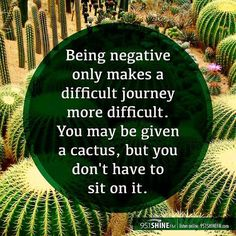 """The thing is being negative is a choice! If you're not careful you're gonna get pricked!( see what I did there?) What we think & what we dwell on can manifest into our life. Our words our attitude will spill into everything we do. People react to the forces we put out there. Why would we want to be a magnet for negativity? If a situation is challenging why put more difficulties on top of it? """"Don't worry... Be Happy"""" aren't just words. Try it! You'll see. I'm positive! by…"""