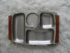 vintage mid century modern stainless steel and by snugsnuggery, $24.00