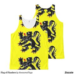Flag of Flanders All-Over Print Tank Top