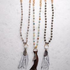 druzy tassel virtue necklace
