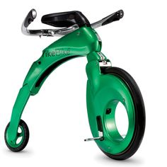 The Folding Electric Mini-Farthing - Hammacher Schlemmer - The Guinness World Record holder as the smallest folding electric bicycle in the world.