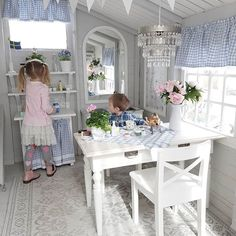 Summertime Project – Build a Playhouse for Your Kids Inside Playhouse, Playhouse Decor, Playhouse Interior, Girls Playhouse, Childrens Playhouse, Backyard Playhouse, Build A Playhouse, Cubby Houses, Play Houses