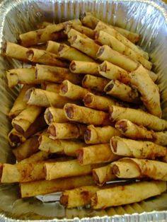 Oh, how I've longed to make Filipino-style lumpia (egg rolls). Nom nom ...