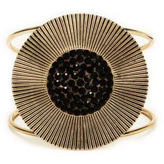 Stony Jewelry Stone Sunburst Cuff Bracelet