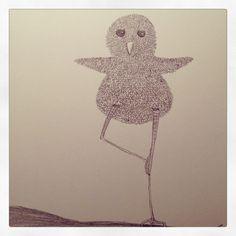 Sketch: Balancing bird.