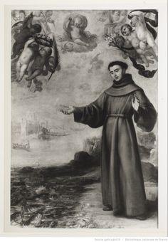 Saint Antoine de Padoue prêchant les poissons / Carrano de Miranda