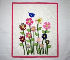 Springtime  Wall Hanging  Wall Quilt  Art Quilt  by DollPatchworks, $45.00