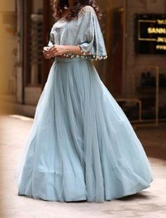 FatimaBi Plus Size Fashion Indian Traditional Cape Style Partywear Lehanga Choli #FatimaBi #LehegaCholi