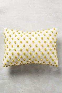 Woollen Pom Cushion - anthropologie.com