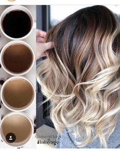 Ideas How To Do an Balayage Ombre Hair Color Brunette Color, Ombre Hair Color, Brown Hair Colors, Brunette Hair, Hair Colours, Balayage Hair Colour, Hair Colors For Winter, Blonde Hair For Winter, Best Ombre Hair
