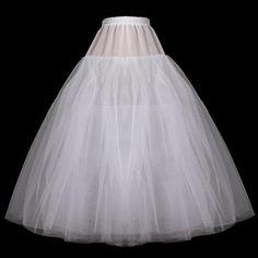 ウエディングドレス用ボリュームロングパニエ 白いペチコート - ヤフオク!