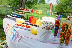 Cute snack table!