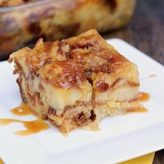 Salted Caramel Pina Colada Bread Pudding. Delicious bread pudding with the flavors of salted caramel, pineapple, and coconut.