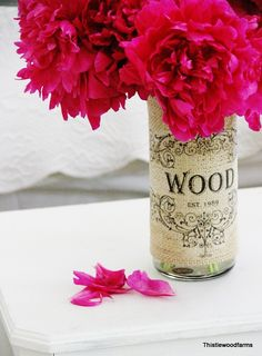 Burlap Vase Project - easy, inexpensive and beautiful!