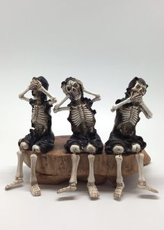 See Speak Hear No Evil Skeleton Scary Party Event Decorations Bar Window Prop Nyc Holiday Frightening Flower Market Whole Supply