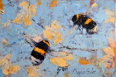 Bees & Blossom, Oil painting by Olena Bogatska bogatska.com