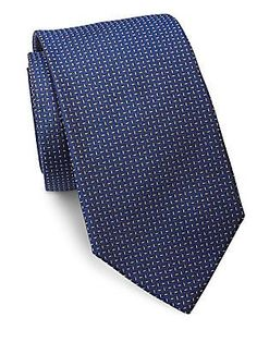 Ralph Lauren Textured Silk Tie - Blue - Size No Size