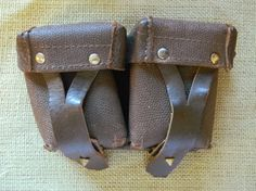 Vintage Leather Storage Pouch  Great for by CuriosityShopper