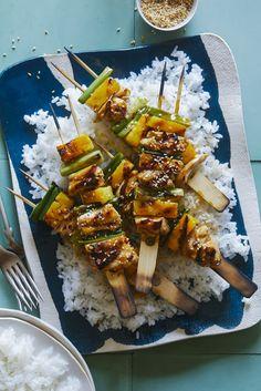 Teriyaki Chicken and Pineapple Yakitori