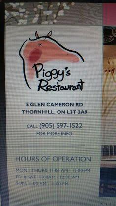 Piggy's Restaurant, Thornhill - Restaurant Reviews & Photos - TripAdvisor