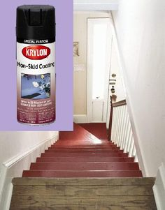 Solution to dangerous slippery wooden stairs without adding ugly treads- awesome!