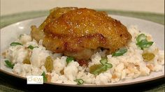 Clinton Kelly's Ginger-Orange Chicken with Coconut Rice Recipe by Clinton Kelly - The Chew