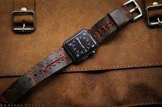 SALE Handmade Vintage Leather Strap by BlackForestAtelier on Etsy