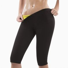 CHENYE new sale Women Slimming Pants Neoprene Sweat Sauna Body Shapers Fitness Stretch Control Panties Burne Waist trainer Pants Leggings, Nylons, Slim Shapewear, Womens Workout Outfits, Slim Pants, Cargo Pants, Yoga Pants, Trends, Capri