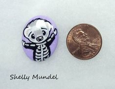 Original Ferret Painting, Whimsy Weasel Stone, Halloween Skeleton- Shelly Mundel #IllustrationArt Halloween Skeletons, Ferret, Original Artwork, Illustration Art, Personalized Items, The Originals, Stone, Painting, Accessories