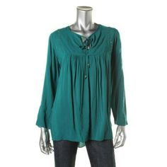 COMING SOON price will be lowered once available Manufacturer: MICHAEL Michael Kors Size: M Manufacturer Color: Deep Sea Green Retail: $99.50 Condition: New with tags Style Type: Blouse Collection: MICHAEL Michael Kors Sleeve Length: Long Sleeve Material: 100% Rayon Specialty: Studded Style Number: MF44KA10SF Sku: BH1225138 MICHAEL Michael Kors Tops Blouses