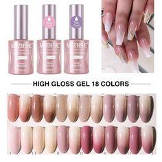 Order Now! Glitter Gel Polish, Gel Polish Manicure, Gel Nails, Luxury Nails, Glue On Nails, Uv Gel, High Gloss, Base, Japanese Style