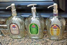 Items similar to Handmade Wooden alcohol dispenser / liquor dispenser / whiskey dispenser / mens gift, anniversary gifts / wedding gifts / corporate gifts on Etsy Liquor Bottle Crafts, Alcohol Bottles, Diy Bottle, Bottle Art, Glass Bottles, Wine Bottles, Patron Bottle Crafts, Empty Liquor Bottles, Alcohol Dispenser