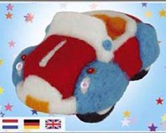 Blue and red car Google Image Result for http://www.weirdollsandcrafts.com/needle-felting-roving/feltingjpegs/felted-car.jpg