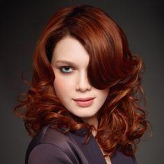 le roux flamboyant par intermde ce roux cuivr flamboyant est obtenu grce la technique de coloration - Coloration Cheveux Cuivr