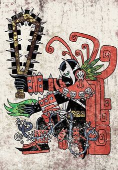 The Day Darth Vader Became An Aztec Warrior And Other Irreverent Pop Mashups By Jorge Qetza. With the traditional and iconic imagery and aesthetics of the ancient Aztecs, Jorge Qetza reimagines pop culture characters, such as Darth Vader or Wonder Woman. Geeks, Comic Books Art, Comic Art, Maya, Iron Man Movie, Ancient Aztecs, Aztec Warrior, Aztec Art, Image Comics