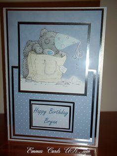 birthday card Boy Cards, Kids Cards, Card Crafts, Crafts To Do, Invitation Ideas, Invitations, Birthday Cards, Happy Birthday, Tatty Teddy