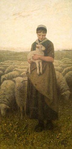 Return Of The Herd - David Adolf Constant Artz (1837 – 1890, Dutch)