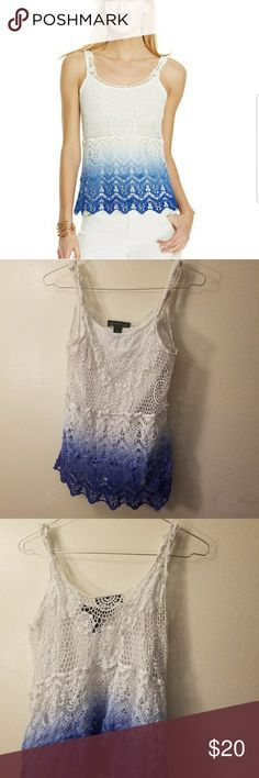 Crochet Top Excellent condition INC International Concepts Tops Tank Tops