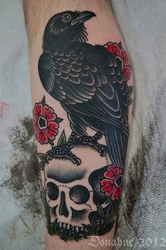 Idle Hand Tattoo San Francisco....love the colors of this tattoo