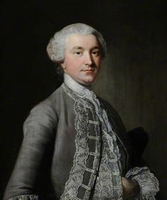 Portrait of an Unknown Man in a Grey Suit, c. 1750 style of Thomas Hudson