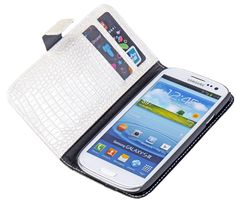 White Croco Wallet Case for Samsung Galaxy S34G Only At 99 kr
