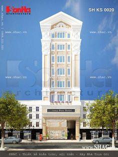 Phương án thiết kế khách sạn tiêu chuẩn 3 sao với kiến trúc kiểu Pháp xa hoa sang trọng