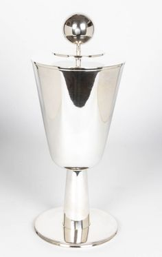 "Breuhaus de Groot / WMF Ikora Germany Art Deco Rare ""Pokal"" Covered Footed Cup 1928"