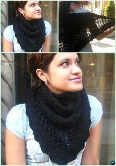 Crochet Magnificent Mantle Mesh Triangled Shawl Free Pattern - Crochet Women Shawl Sweater Outwear Free Patterns