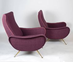 Pair of Lady Chairs by Marco Zanuso for Arflex, 1951